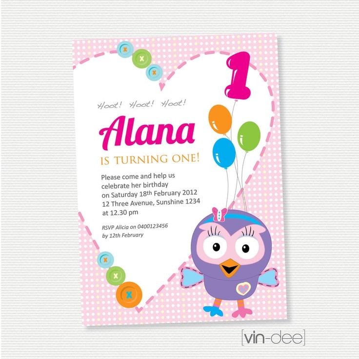 Hootabelle The Owl Birthday Invitation - DIY Printable. $14.00, via Etsy.