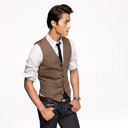 #StealHisStyle in (@ J.Crew) Harvest herringbone vest
