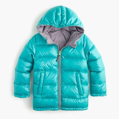 J.Crew - Girls' reversible puffer jacket