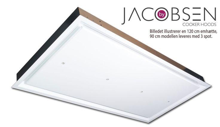 Køkken24: Drøbak by Jacobsen loftemfang hvid mat lak 60 x 90 cm | UM DRO90A-L08-31