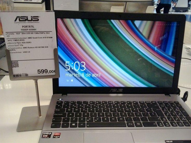"""20:00 Mirando ordenadores para comprar uno. Descripción del producto. """"Que sea un I5"""", me dicen, """"por lo menos""""."""