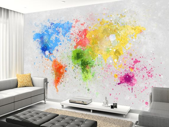 World Map Painting wall mural living room preview