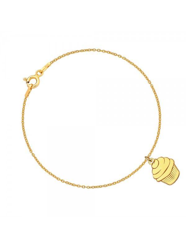 Złota bransoletka celebrytka muffinka MARKI LAONI