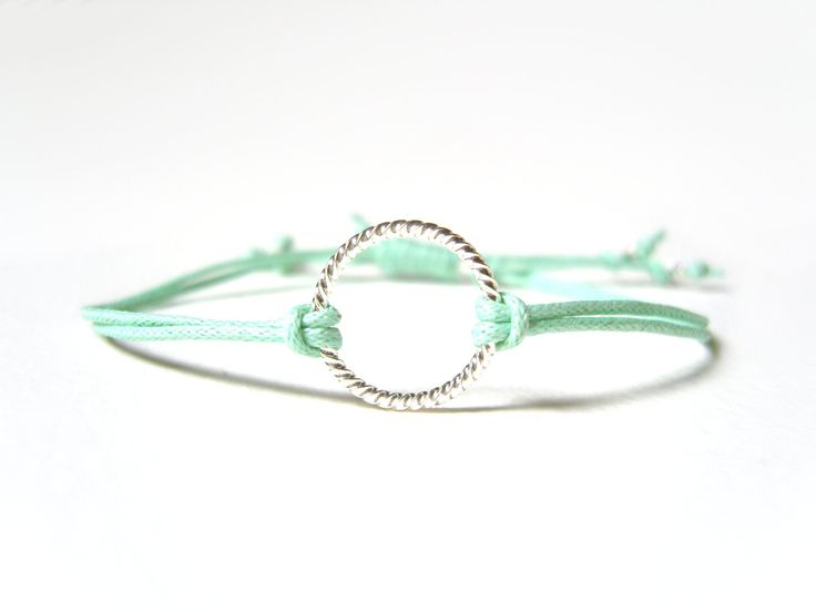 Mint String Bracelet, Eternity Bracelet, Pastel Jewelry, Love Jewellery UK, Gifts for Teenagers. £8.02, via Etsy.
