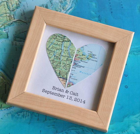 I LOVE this wedding gift idea!!! #LongDistanceLove  Isnt it amazing how two people can come from far away places and fall in love? Give the gift that symbolizes love from two different places.