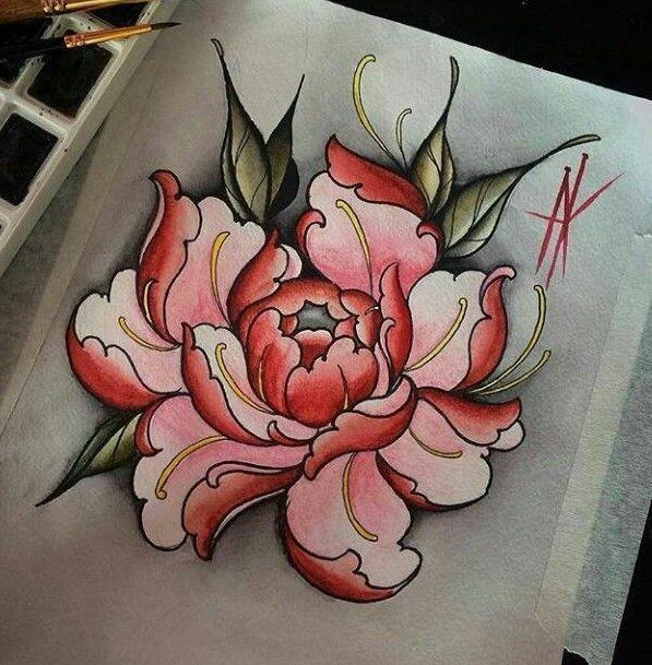 Pin De Ashley Sparks Em Tattoos Piercings Flor Oriental Tattoo