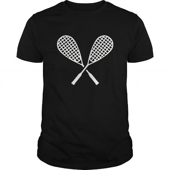I Love Crossed squash rackets TShirt T shirts