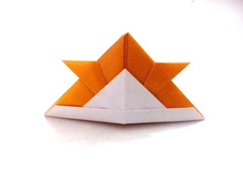 How To Make An Origami Paper Samurai Helmet