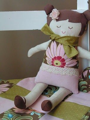 Black Apple Doll & Quilt  -- @Kimberly Culp Duplantis...how cute would this be for butterbean?