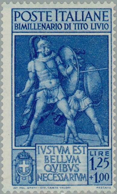 Sello: Roman soldiers (Italia) (Two thousand years of the birth of Titus Livius) Mi:IT 632,Un:IT 461