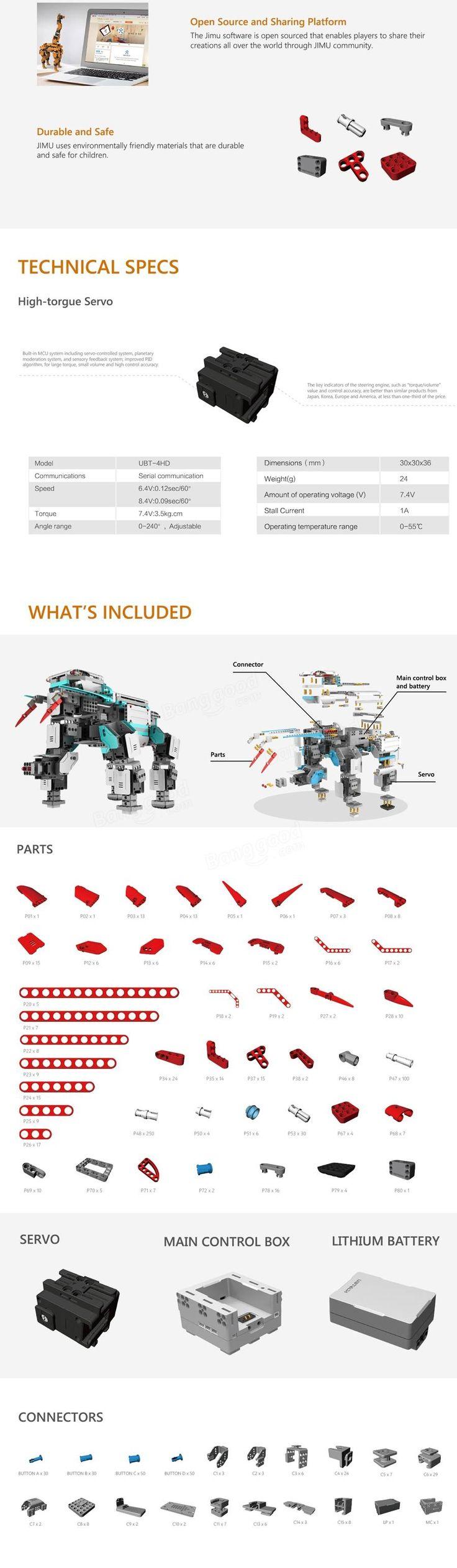 UBTECH Jimu 3D Programmable Creativity DIY Robot Kit