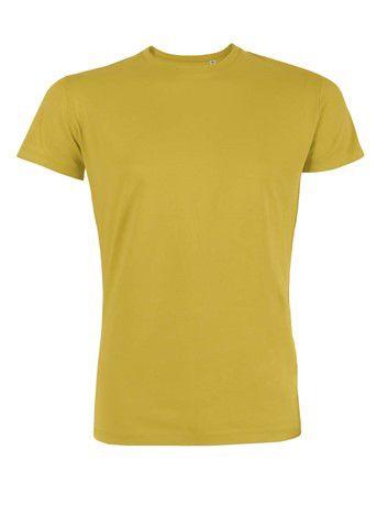 Mosterd geel T-shirt van biologisch katoen.
