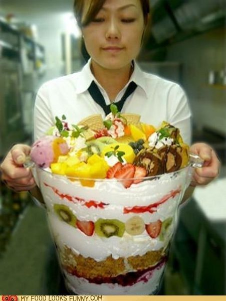 This is either a massive parfait or sundae.
