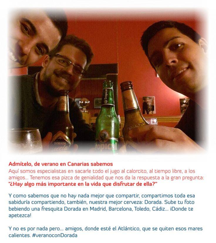 ¿Hay algo más importante en la vida que disfrutar de ella?  #aquísabemos que la vida hay que disfrutarla, que al calorcito hay que sacarle el todo el jugo, igual que a los amigos, al tiempo libre...  Porque, aquí le tenemos pillado el tranquillo a la vida  http://beta.elcambuyon.es/landing/aquisabemos/  #CervezaDorada #Canarias #Cerveza #Dorada #CCC #verano #cerveceocom