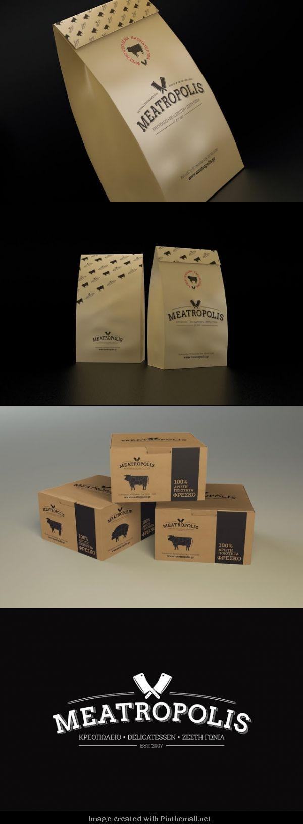 Meatropolis butcher shop. Meet me at Meatropis for lunch #packaging PD