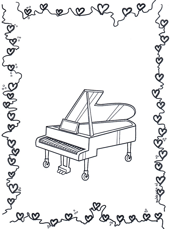 musical keyboard coloring pages - photo#22
