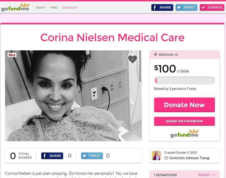 Consider donating to the #GoFundMe page created to help offset #CorinaNielsen medical care costs for the care of her #TalovCyst
