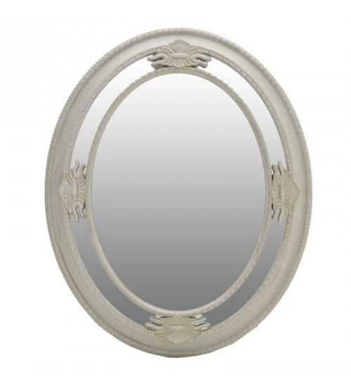 POLYRESIN WALL MIRROR IN CREME_GOLDEN COLOR 65X6X80