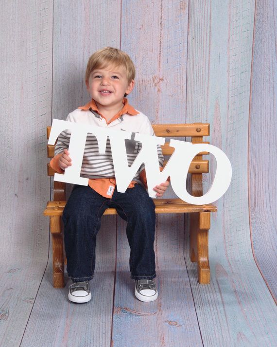 Document your childs growth and personality with this fun second birthday TWO sign childrens photo prop! Take second birthday photos with this