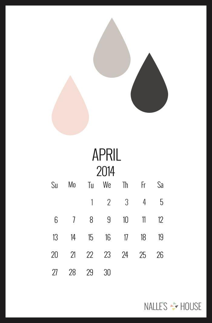 April Printable Calendar & Easter Crafts