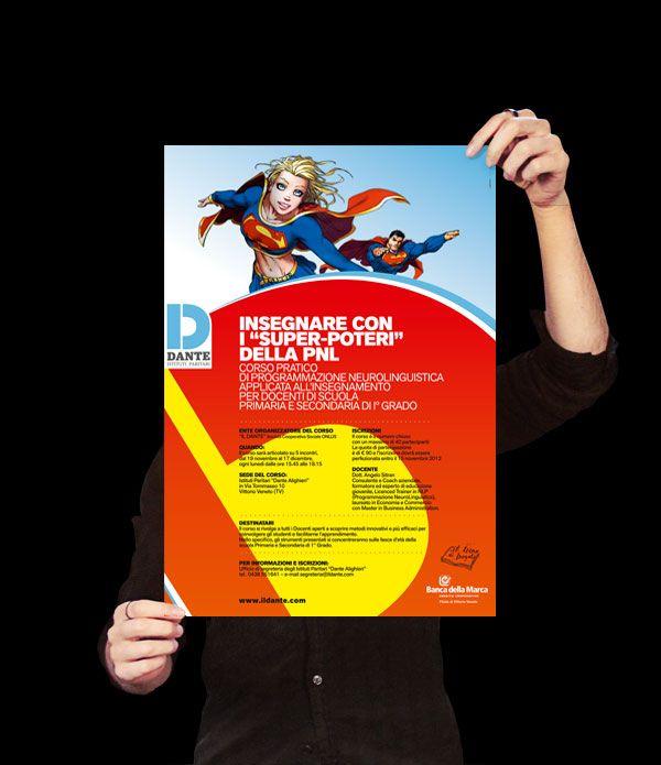 Manifesto eventi con gabbia applicata