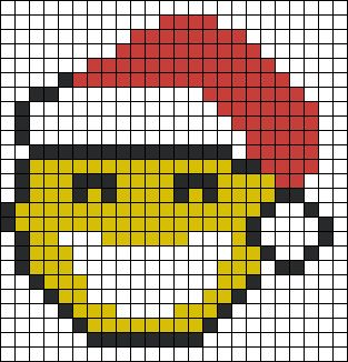 Christmas Smiley perler bead pattern