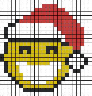 Christmas Smiley perler bead pattern