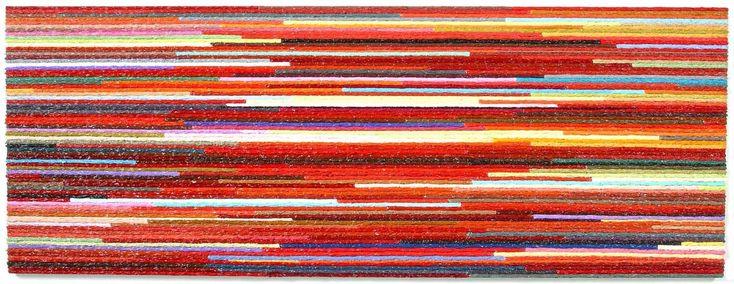 Ruby Rabbit, Oil on canvas (72x193cm)