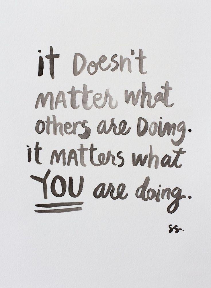 It really shouldn't matter