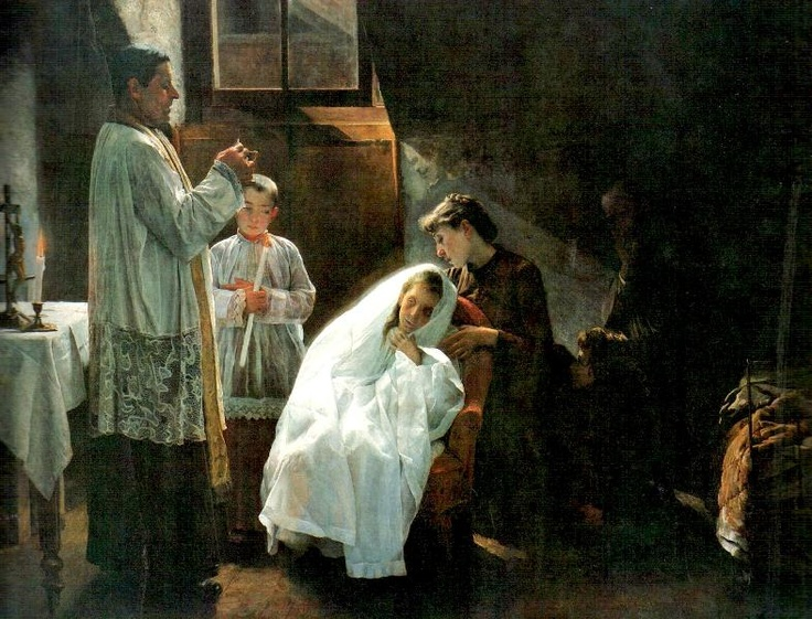 The First and Last Communion, Cristobal Rojas, 1888.