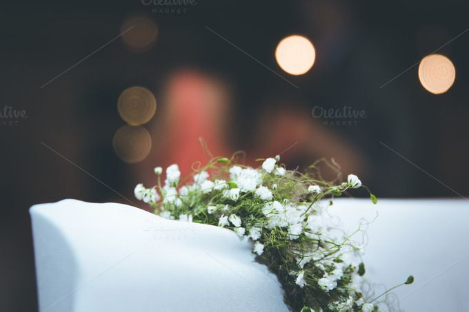 White flower on a wedding by Farkas B. Szabina on Creative Market
