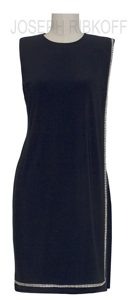 LBD   The perfect LITTLE BLACK DRESS    Diamonte detailing   Joseph Ribkoff 2016 Collection available at ASPIRATIONS. 38 Church Street, Brighton. Tel 95932007