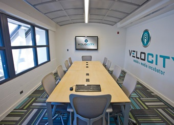 The conference room in VCity's res