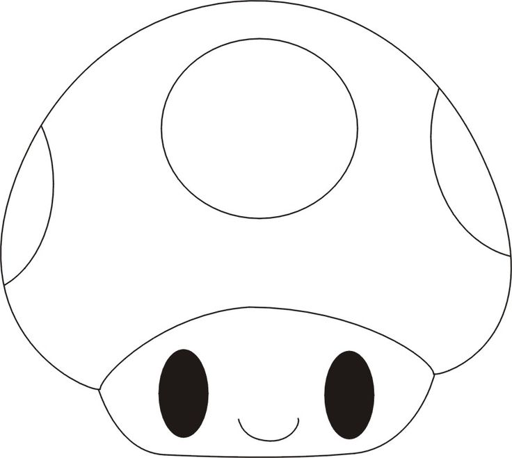 Mario Mushroom-esque Applique Template