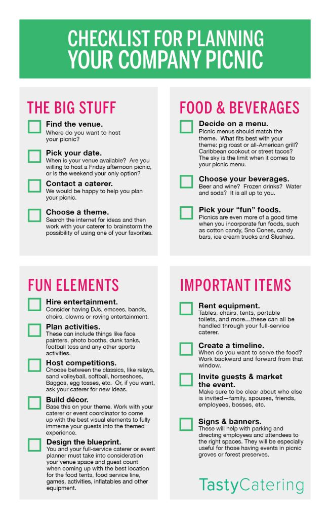 Need help planning a picnic? Check out this Checklist