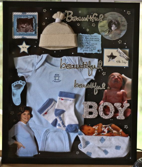 Custom 3D Mixed Media Shadow Box  One of a by FeatherheadStudio, $50.00  #baby…
