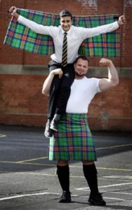 The new tartan designed for the Commonwealth Games in Glasgow 2014
