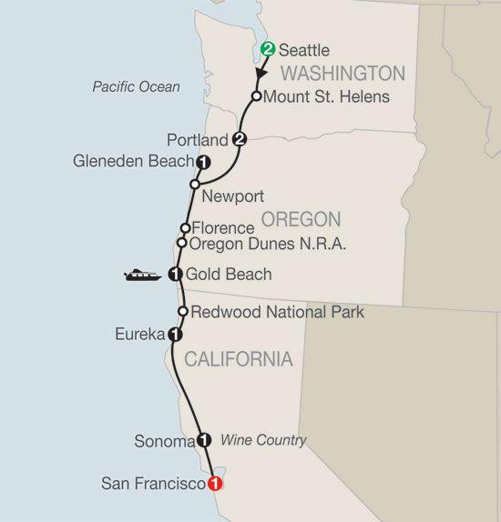 June 11-20 - Seattle to San Francisco