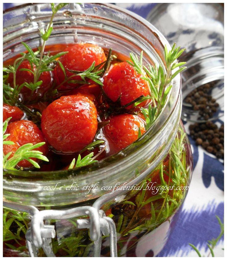 Cool Chic Style Confidential : Conserve : Pomodorini caramellati sotto vetro per un mangiare italiano