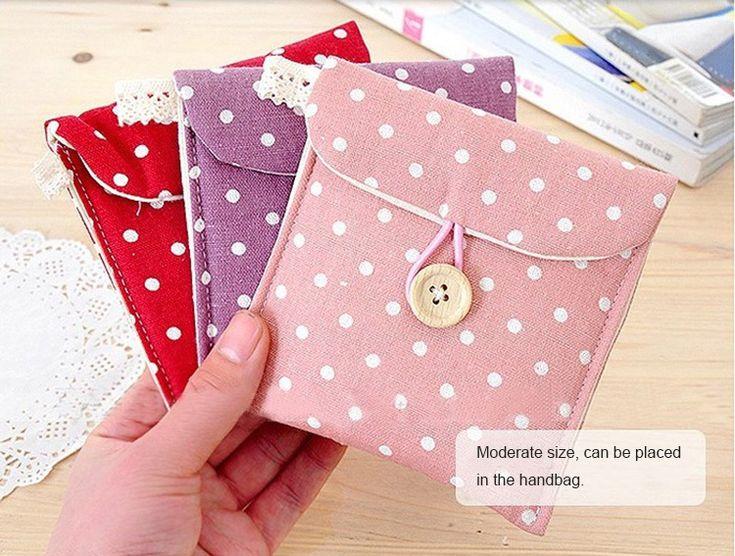 De algodão de bolinhas de saco caso organizador, Mulheres pacote de armazenamento Pad saco guardanapo segredo em Bolsas para Remédios & Capas de Bagagem & Bags no AliExpress.com | Alibaba Group