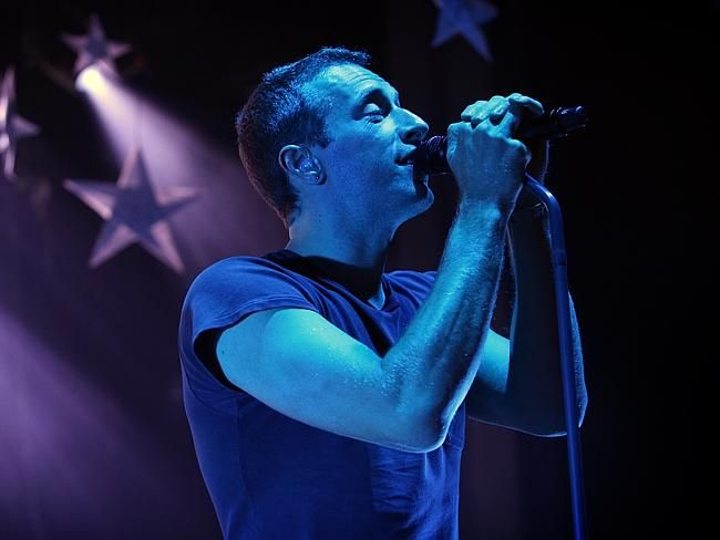 Coldplay Tour 2014 | ... down ... Chris Martin from British band Coldplay on their Sydney 2014