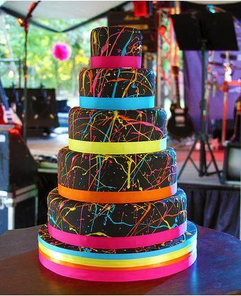 80s wedding cake...lol loving the neon!