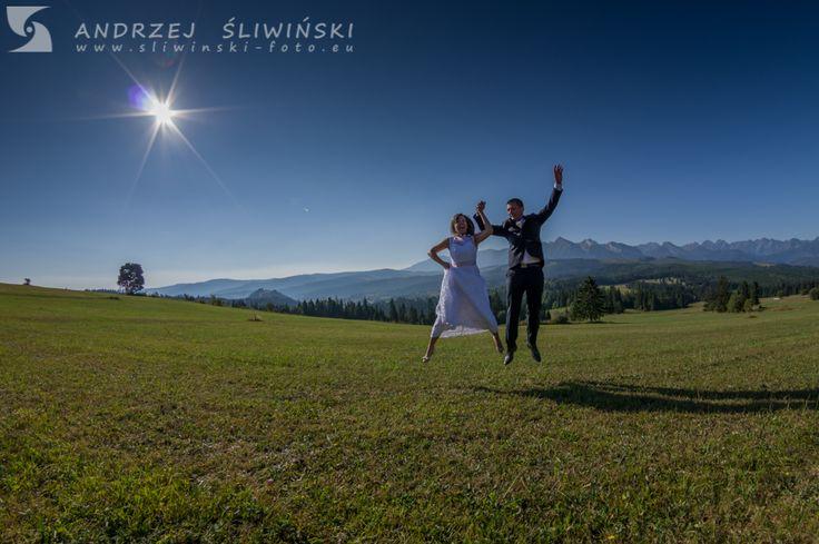 Wedding photography. / Plener ślubny pod Tatrami.