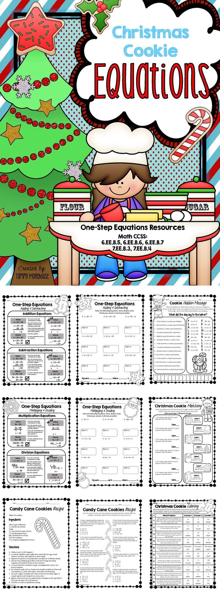 Christmas One Step Equations Resources One Step Equations Equations Addition And Subtraction Lesson one step equations addition