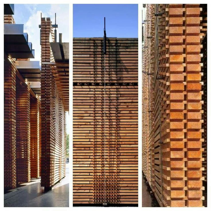 apilar maderas hasta construir un pabellón. Peter Zumthor