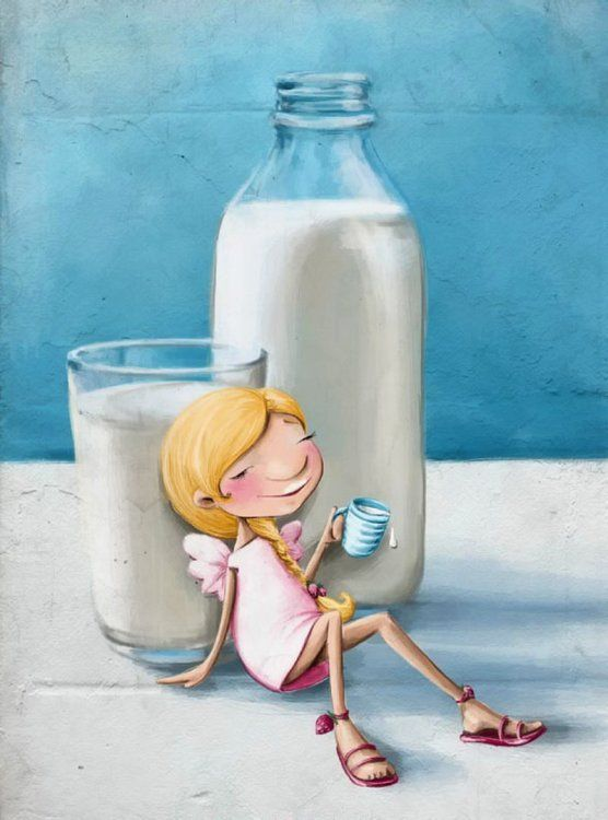 Прикольные картинки молока