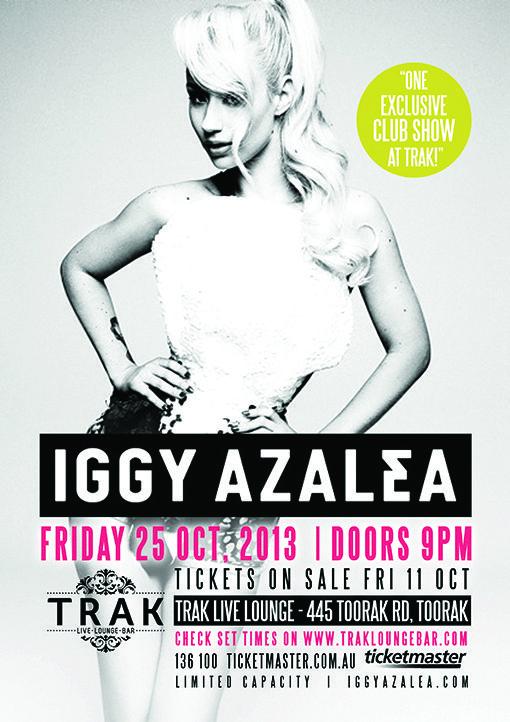 Iggy Azalea performing at #TRAK on Friday 25th October