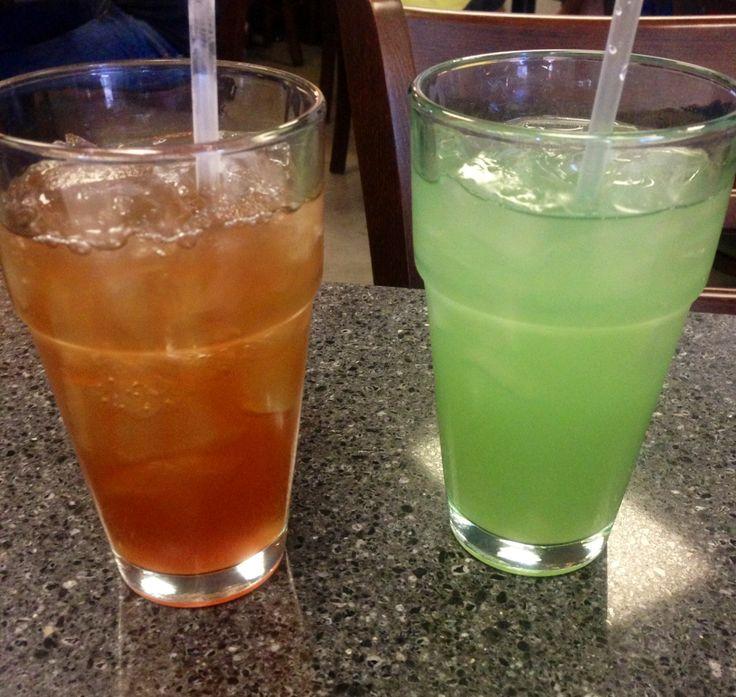 Kombucha and cantaloupe drinks. Yum yum ;)