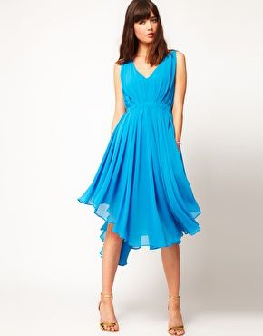 ASOS Chiffon Dress With Cut Out Back