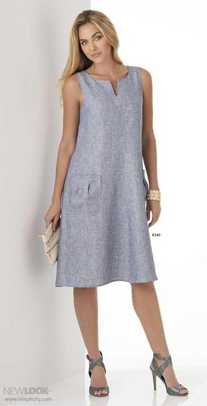 Идеи моделей платьев из льна